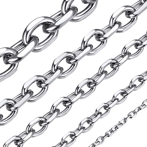 ChainsHouse Mens Cable Chain Necklace 3mm 24 inch 316L Stainless Steel Mens Jewellery