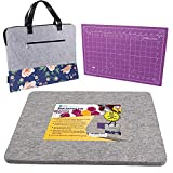 Wool Pressing Mat for Quilting - 100% New Zealand Wool Ironing Mat for Quilters, Best Ironing Mat for Table Top Crafts, Bonus Travel Bag & Cutting Mat - 13.5x17, LMD Innovations Wool Mat for Ironing