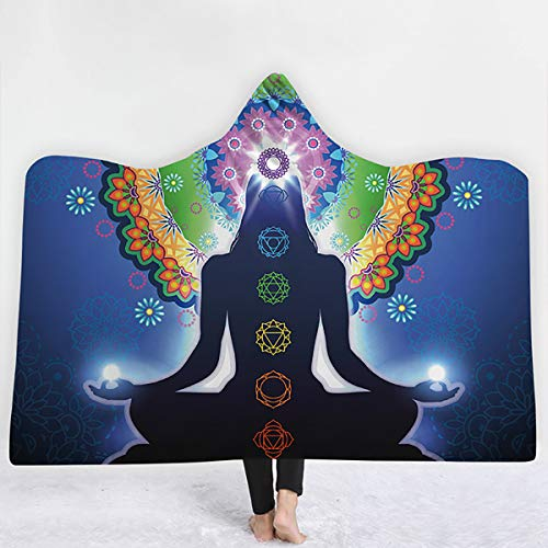 Anabei Yoga 3D Kapuzendecke Umhang, Hutdecke, dicke Decke, Kinderdecke, L – 150 x 200 cm