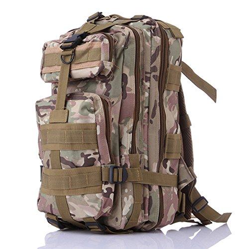 Ruifu militaire MOLLE Sac à dos Sac à dos tactique Gear Sac en nylon imperméable Grande Assault Lot pour la chasse Camping Trekking Voyage, CP