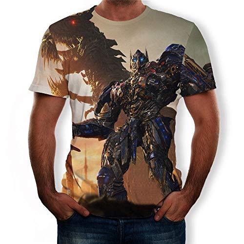 Camisetas Manga Corta Hombre Transformadores De Impresión D