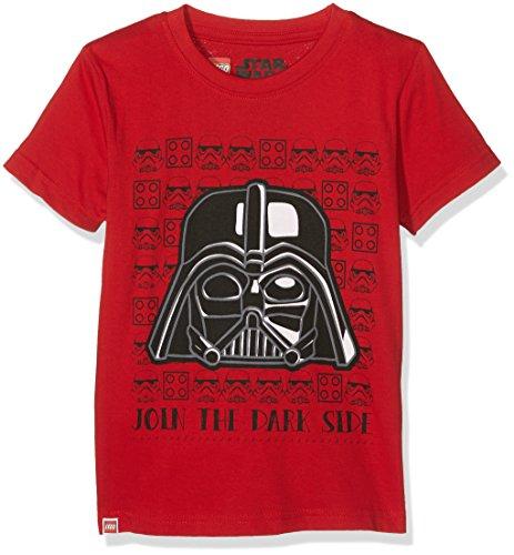 LEGO Jungen T-Shirt M-70403, rot, 122