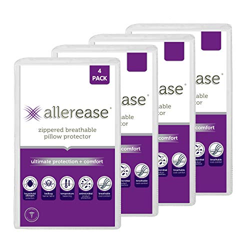 AllerEase Ultimate Protection & Comfort Temperature Balancing Pillow...