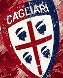 Nalana Poster Cagliari Football UH-101 Bar Living Room
