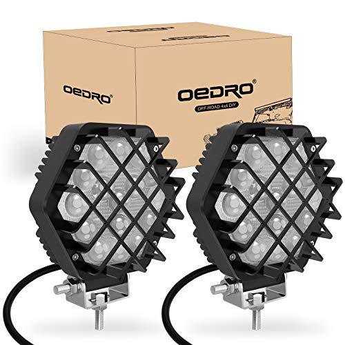 oEdRo LED Light Pods 5 Inch 2 Packs 48W 4800LM Spot Light Pod Off Road Driving Lights Fog Bumper Roof Light Fit for Boat, Jeep, SUV, Truck, Hunters, Motorcycle Work Light(Black)