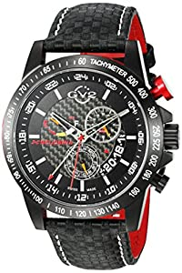 GV2 by Gevril Men's 9900 Scuderia Analog Display Swiss Quartz Black Watch image