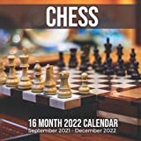 Chess 16 Month 2022 Calendar September 2021-December 2022: Board Game Square Photo Date Book Monthly Pages 8.5 x 8.5 Inch