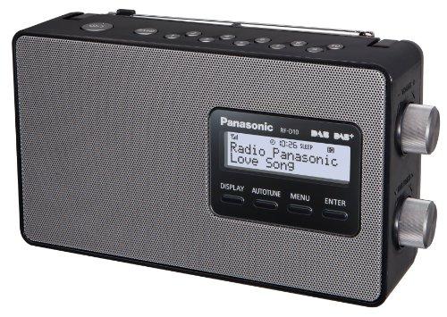Panasonic RF-D10EG-K Digitalradio (DAB+/UKW Tuner, Netz- und Batteriebetrieb) schwarz & Inline 16654G Netzkabel, Netzstecker auf Euro 8 C7 Stecker, gewinkelt, 2m