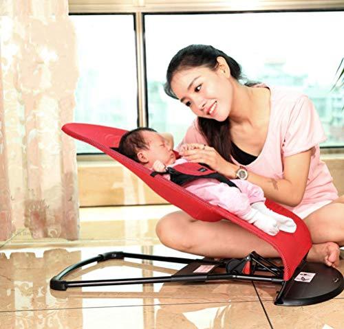 MOLLYNANA chaise haute bebe chicco Fauteuil à bascule pour bébé - Portable peut s'asseoir inclinable, lit-berceau pour bébé, fauteuil à bascule respirant, convient aux nourrissons (de 0 à 2 ans)