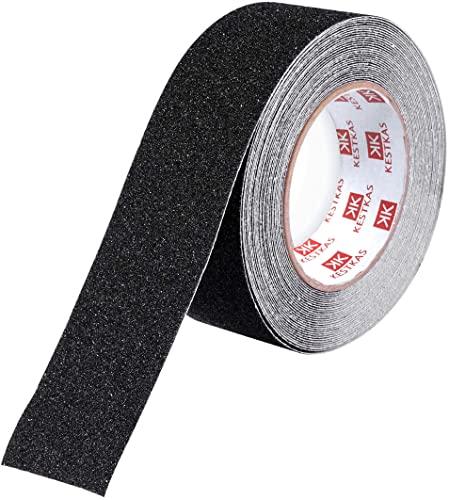 Cinta Antideslizante Seguridad 50mm x 10m KESTKAS - Cinta Antideslizante Adhesiva para Suelo Interiores y Exteriores - Alta Tracción - Resistente - Fijación Instantánea
