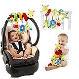 Accesorio para cochecito de bebé con forma de espiral para actividades de bebé, juguete para colgar en la cuna, juguete para actividades de viaje, juguete de peluche suave de 28 x 25 cm