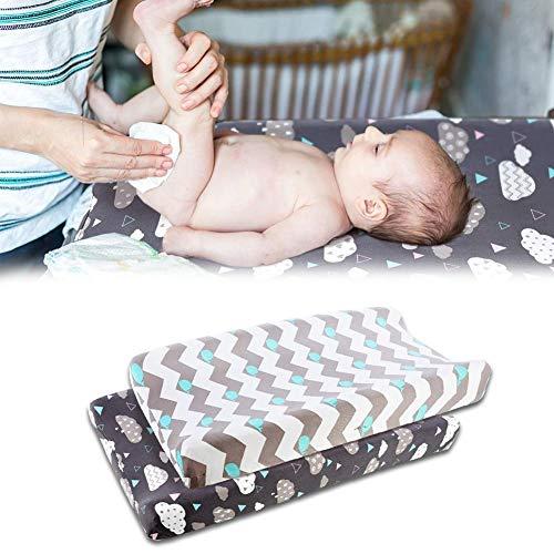 Haodene 2pcs Funda Elástica para Cambiador De Bebé, Ultra Suave Algodón, Sábanas Unisex