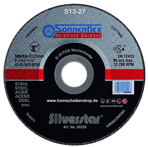 10x Trennscheibe, S25_Ø 230 x 3,0 mm Sonnenflex Stahl, Metall, Guß, Eisen, Premium-Qualität.