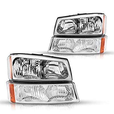 Torchbeam Replacement Headlight Assembly for 2003-06 Silverado 1500/1500HD/2500/2500HD/3500, OE # 15199557/10396913