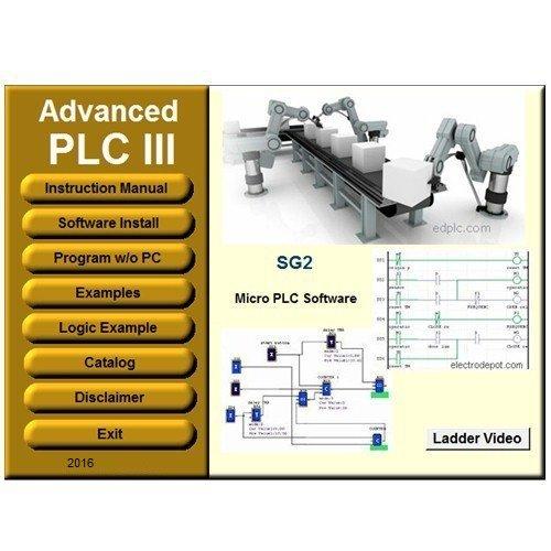 PLC 3 Programming Software Ladder and Logic. Virtual PLC Simulation Examples Manuals