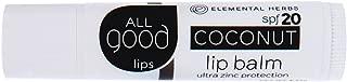 All Good Lips Organic Lip Balm SPF 20 Coconut