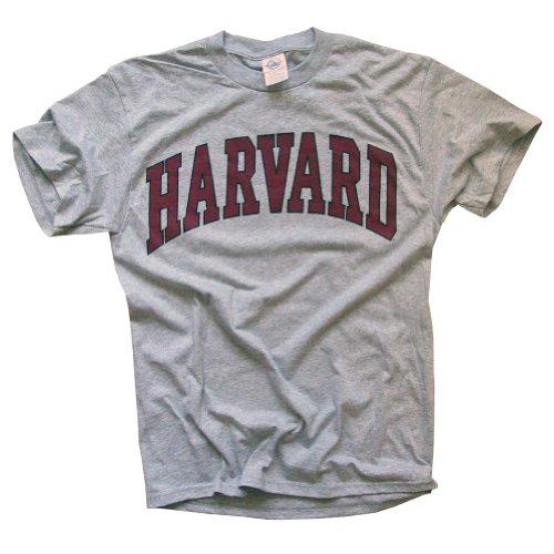 Harvard University T-Shirt - Arched Block - Grey -M