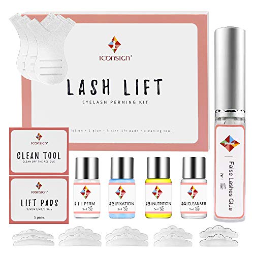 Kit de Permanente de Pestañas, Kit de elevación de pestañas, Lash Lift Kit, Semi-permanente de pestañas rizado permanente para salón