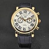 HWCOO Hermoso reloj mecánico FORSINING / 8072 Reloj de cuero automático para hombres Reloj mecánico de hombres (Color : 6)
