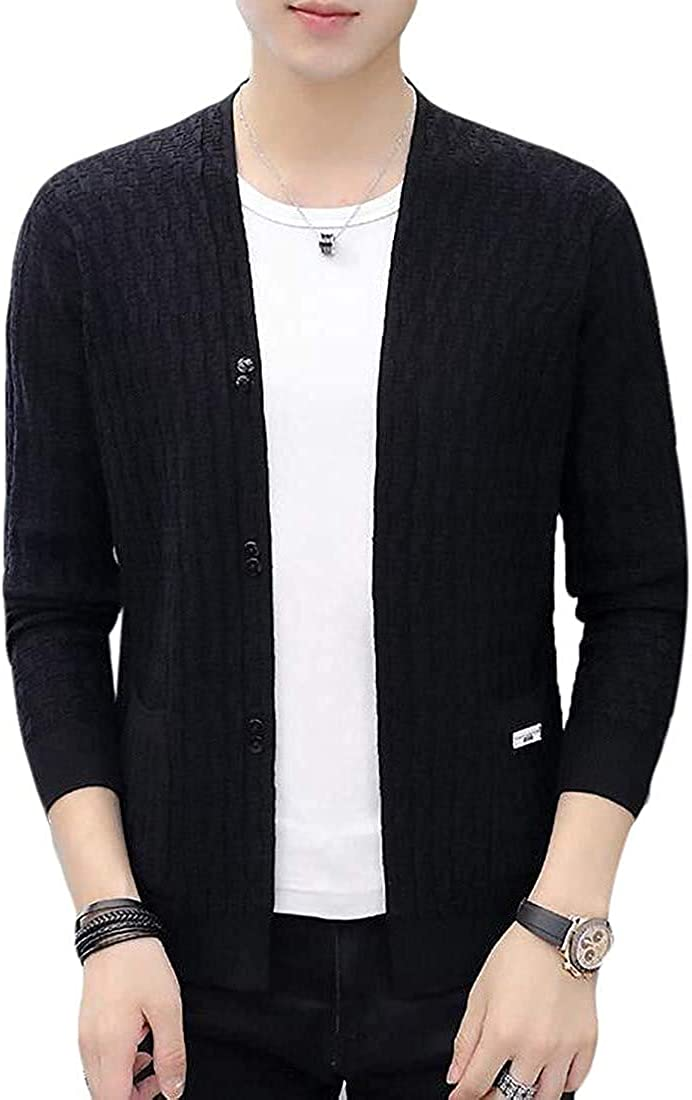TIMOTHY BURCH All items free shipping Mens Casual Solid Knitted Open Swea Cardigan Front Translated