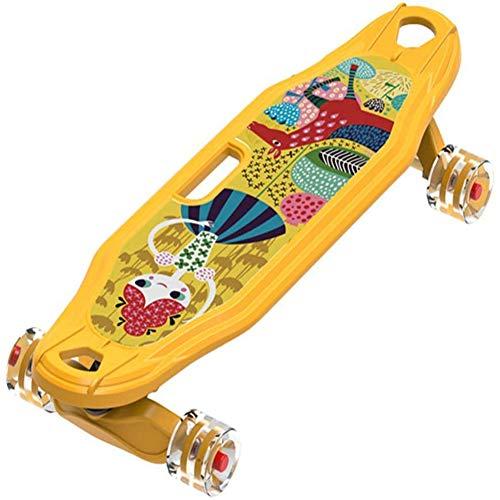 NFJ Complete Skateboard,Double Warped Skateboard,Mini Cruiser Skateboard, 95A PU Wheels For Adult Beginners Fish Skateboards,D