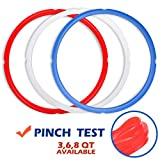 Silicone Sealing Rings for Instant Pot Accessories, Fits 5 or 6 Quart Models, Red, Blue and Common...