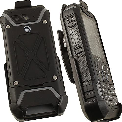 Holster for Sonim XP5, Nakedcellphone Black [Rotating/Ratchet] Belt Clip Holder Case [with Kickstand] for Sonim XP5 Phone (XP5700)