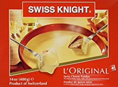 Premium fondue cheese from Switzerland Made with the original recipe of Swiss Cheeses, white wine, and kirsch brandy. Ready to serve in minutes One packet serves two as a meal or 8 as an appetizer