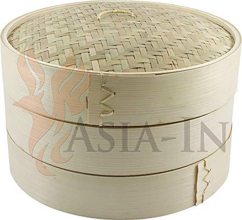 JADE TEMPLE Bambú Sordina 3piezas 25cm bamboo Steamer Set
