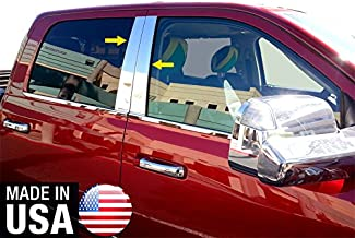 Made in USA! Works with 2009-2018 Dodge Ram 1500 Crew/2010-2018 Ram Mega Cab 4PC Stainless Steel Chrome Pillar Post Trim