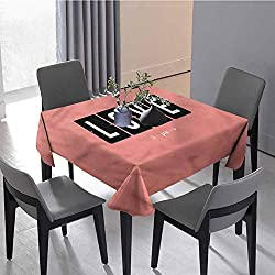 JKTOWN Love Personalized Durable Tablecloth Holiday Table Decoration 36x36 inch Adoration Clock Design