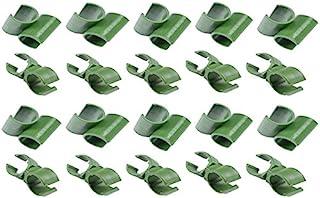 GREATLOVE Garden Garden Garden Orchard Adjustable Plant Green Plastic Connector Flower Rattan Plastic Buckle (10pcs Cross Plastic Connector and 10pcs Universal Flower Rattan Plastic Buckle) (11mm)