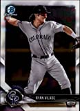 2018 Bowman Chrome Prospects #BCP92 Ryan Vilade Rockies RC Rookie MLB Baseball Trading Card. rookie card picture
