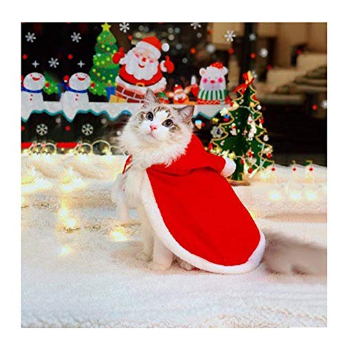 Best Seller Cat Costume Pet Christmas Costume Santa Cloak Cat Cape for Small Cats Dogs