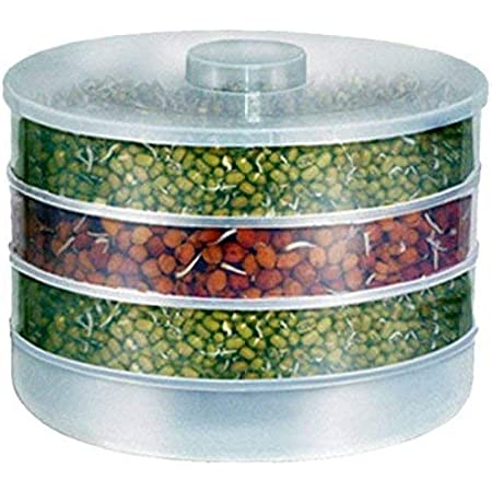 Rylan Plastic Sprout Maker With 4 Container - 500ml, White
