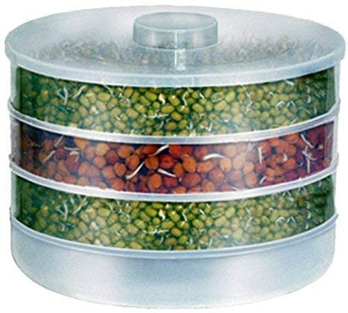 HOME SKILL Sprout Maker | Plastic Sprout Maker Box | Hygienic Sprout Maker with 4 Container | Organic Home Making Fresh Sprouts Beans for Living Healthy Life Sprout Maker 4 Bowl Sprout Maker for Home