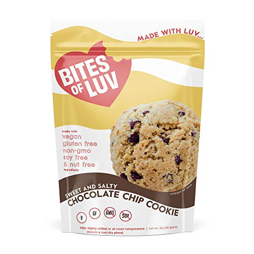 Bites of Luv Vegan Gluten Free Cookies, Soy Free, Nut Free, Dairy Free, Chocolate Chip, Oatmeal Raisin, Oatmeal Chocolate Chip, Soft Baked, Sweet and Salty Cookie Assortment, Variet Pack