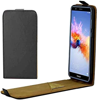 Multifunctional leather case For Huawei Honor 7X Vertical Flip Leather Protective Back Cover Case with Card Slot(Black) (C...