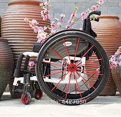 Lichtgewicht rolstoelen, inklapbaar, draagbaar, ultralicht, gehandicaptenvriendelijke sportrolstoel wit