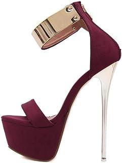 Women's Fish Mouth Sandal,Fashion Zipper Banquet Ladies Shoes,Summer PlatformSandals Pumps Shoes