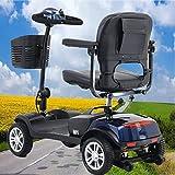 SUNWEII Patinete eléctrico, Patinete eléctrico de 4 Ruedas, móvil Senior con homologación Vial, e-Scooter, e-Scooter, Scooter eléctrico MOTER-24Vx270W