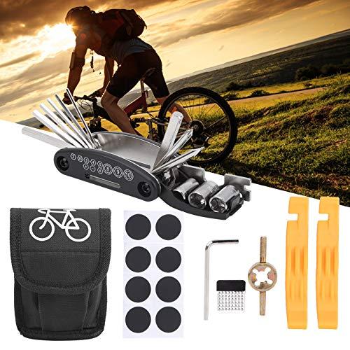 banapoy Bike Tool Kit, Professional Bike Tire Repair Kit, Small Mountain Bike for Bicycle Tyre Repair Bike Puncture Repair Road Bike