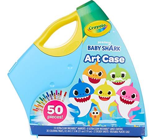 Crayola Baby Shark Art Set, 50 Pieces, Gift for Kids, 3, 4, 5, 6, 7
