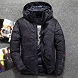 CHYSP Camouflage Down Jacket Men Thick Winter Hat Detached Warm Waterproof Windproof (Color : B, Size : 2XL)