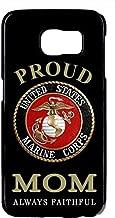 Deal Market Inc LLC USMC Marines Marine Corps Proud Mom Black Rubber Case Cover for Samsung Galaxy S7 EDGE