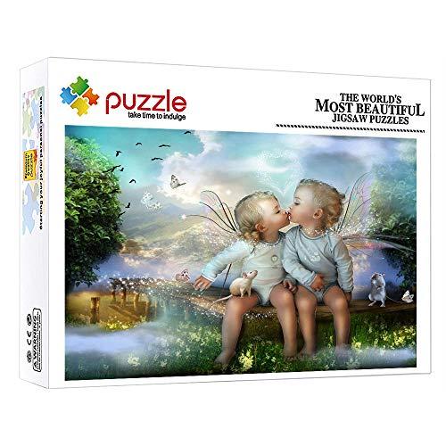 FFGHH Puzzle 1000 Piezas Adultos Puzzle Mini Puzzles 7 Años Niños Regalo De Cumpleaños para Adultos Niños Amigo Elfo Bebé 14.96In X 10.23In