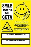 Smile You Are on Cctv ティンサイン ポスター ン サイン プレート ブリキ看板 ホーム バーために