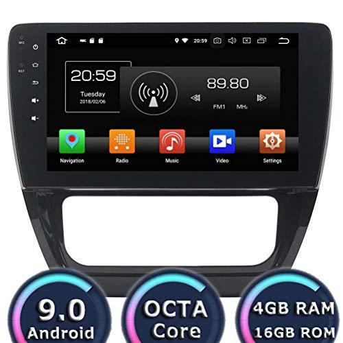 ROADYAKO Android 10,1 Pouces 8.1 pour VW Sagitar 2012 2013 2014 autoradio stéréo avec Navigation GPS Lien WiFi Miroir RDS FM AM Bluetooth AUX multimédia multimédia Audio vidéo