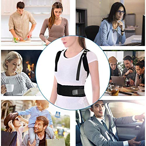 "Back Brace Posture Corrector Support Brace for Men and Women Improves Posture and Provides Lumbar Back Brace Upper Back Pain Relief (X-Large(37""-46""))"