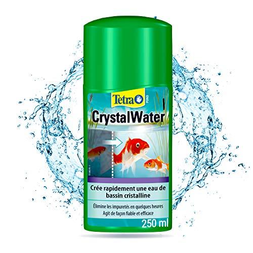 Tetra Pond CrystalWater – Clarificateur d'Eau de Bassin – Favorise une Eau Cristalline - Agglomère et facilite l'élimination des particules en suspension – 250 ml